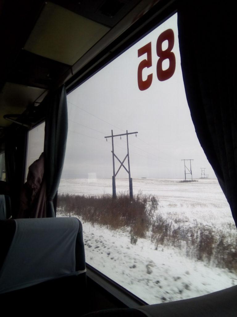 Вид из окна автобуса на местность города Зарайск! Очень пустые места, мало лесов и редкая местность!