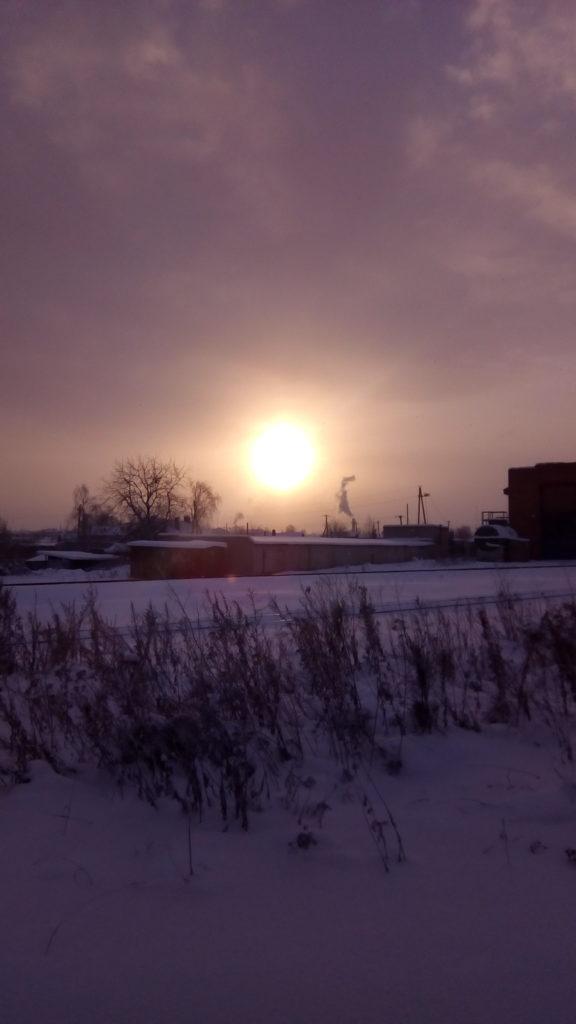 Солнце северное над городом Котлас