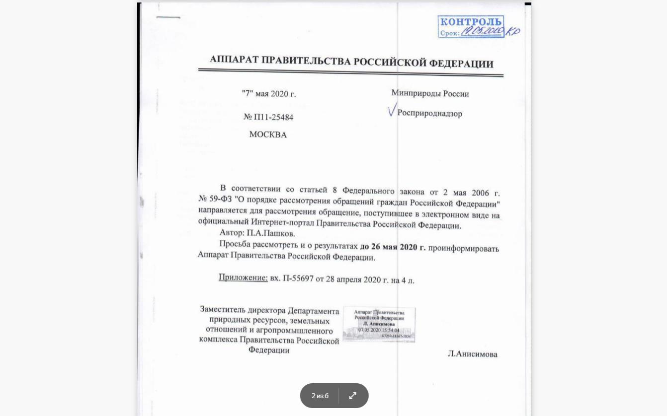Получил ответ от Правительства РФ на мой запрос о недопустимости убийства животных со стороны депутатов
